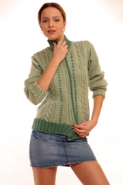 Пуловер Реглан С Вертикальными Полосами